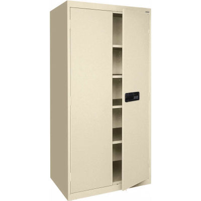 Sandusky Elite Series Keyless Electronic Storage Cabinet EA4E462472 - 46x24x72, Putty