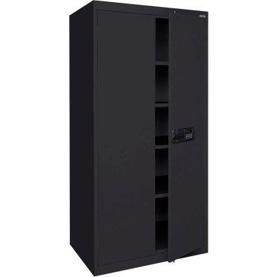 Sandusky Elite Series Keyless Electronic Storage Cabinet EA4E462478 - 46x24x78, Black