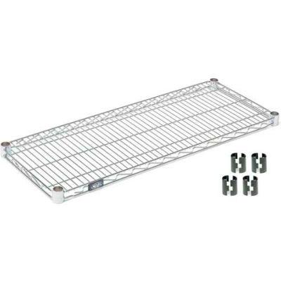 """Nexel® S2424C Chrome Wire Shelf 24""""W x 24""""D"""