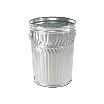 Galvanized Garbage Can - 20 Gallon Commercial Duty - WCD20C