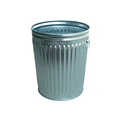 Galvanized Garbage Can - 24 Gallon Commercial Duty - WCD24C
