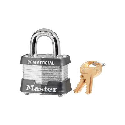 "Master Lock® No. 5 Keyed Padlock - 1"" Shackle - Keyed Different - Pkg Qty 6"