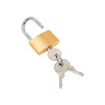 Brass Padlock With 3 Keys - Keyed Differenlty