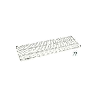 """Nexel® S2472S Stainless Steel Wire Shelf 72""""W x 24""""D"""