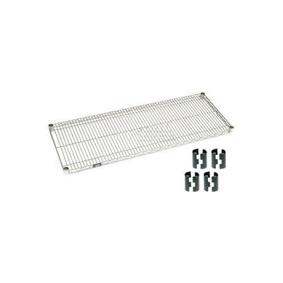 """Nexelate® Silver Epoxy Wire Shelf, 36""""W  x 18""""D"""
