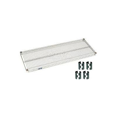 Nexelate® Silver Epoxy Wire Shelf 48 x 18 with Clips