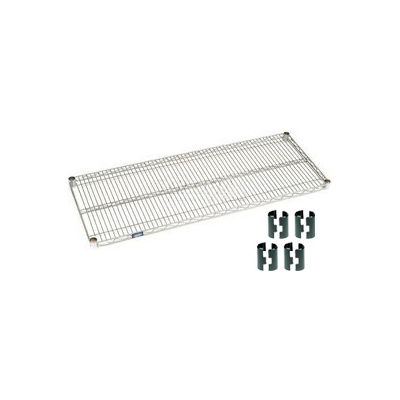 Nexelate® Silver Epoxy Wire Shelf 48 x 18 with Clips