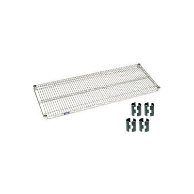 Nexelate® Silver Epoxy Wire Shelf 60 x 18 with Clips