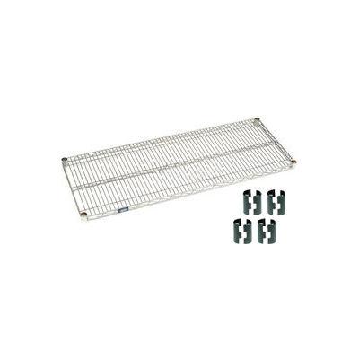 Nexelate® Silver Epoxy Wire Shelf 60 x 18 with Clips