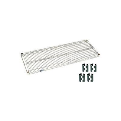 Nexelate® Silver Epoxy Wire Shelf 72 x 18 with Clips