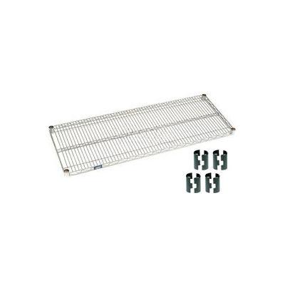 Nexelate® Silver Epoxy Wire Shelf 36 x 24 with Clips