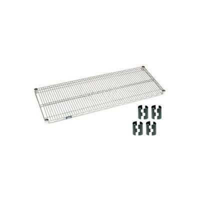 Nexelate® Silver Epoxy Wire Shelf 60 x 24 with Clips