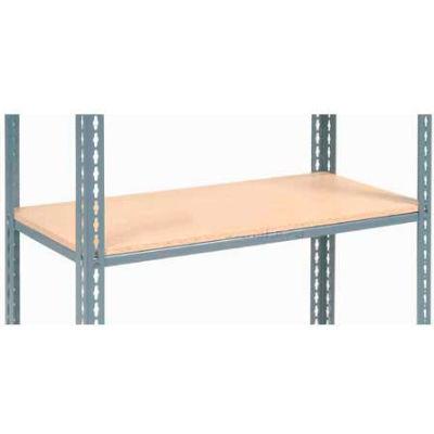 "Global Industrial™ Additional Shelf Level Boltless Wood Deck 48""W x 18""L - Gray"