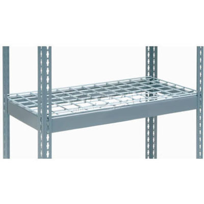 """Global Industrial™ Additional Shelf Level Boltless Wire Deck 48""""Wx18""""D, 1500 lbs. Capacity, GRY"""