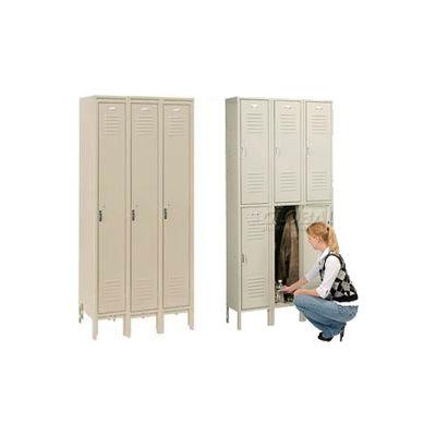 Penco 6321V-1-073KD Door Pull Handle Triple Tier Locker 12x15x24 Unassembled 1 Wide Champagne