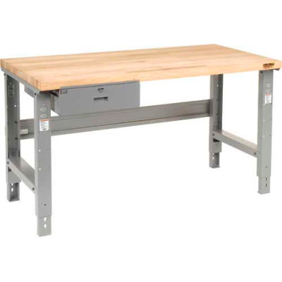 "60""W x 30""D Plastic Laminate Safety Edge Top Workbench with Drawer"