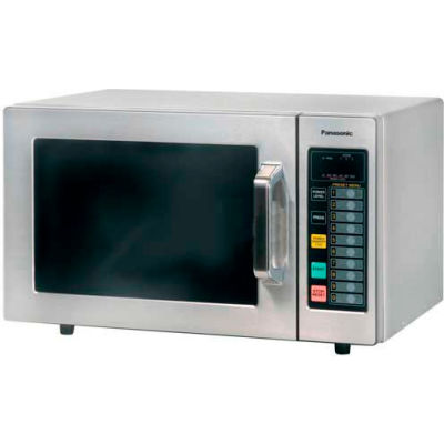 Panasonic® NE-1064, 0.8 Cu. Ft. 1000 Watt All Stainless Steel Commercial Microwave