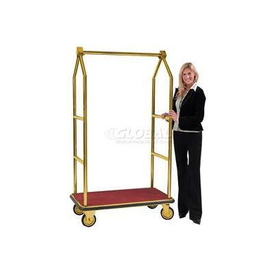 Aarco Easy-Roll Brass Bellman Hotel Luggage Cart LC-2B 42 x 24