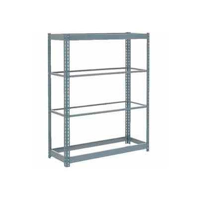 """Global Industrial™ Heavy Duty Shelving 48""""W x 18 x 60""""W With 4 Shelves - No Deck - Gray"""