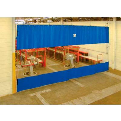 TMI Blue Curtain Wall Partition with Clear Vision Strip 12 x 12 QSCC-144X144