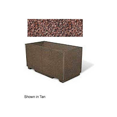 "Concrete Outdoor Planter w/Forklift Knockouts, 48""Lx24""Wx24""H Rectangle Red Quartzite"