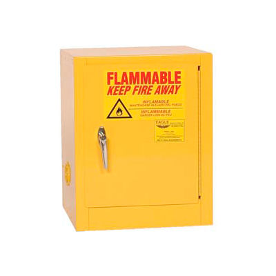Eagle Countertop Flammable Cabinet - Manual Close Door 4 Gallon