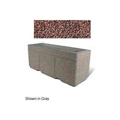 "Concrete Outdoor Planter w/Forklift Knockouts, 72""Lx24""W x 30""H Rectangle Red Quartzite"