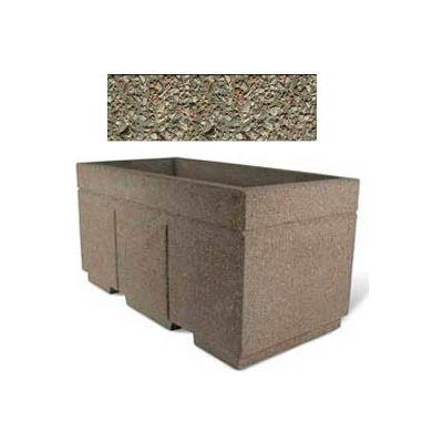 "Concrete Outdoor Planter w/Forklift Knockouts, 72""Lx36""W x 36""H Rectangle Gray Limestone"