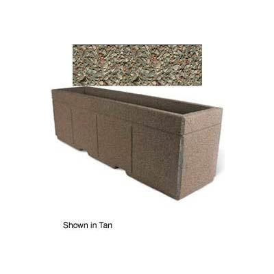 "Concrete Outdoor Planter w/Forklift Knockouts, 96""Lx24""W x 30""H Rectangle Gray Limestone"