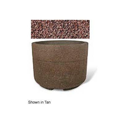 "Concrete Outdoor Planter w/Forklift Knockouts, 48""Dia x36""H Round Red Quartzite"