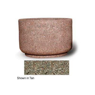 "Concrete Outdoor Planter 36""Dia x 24""H Round Gray limestone"