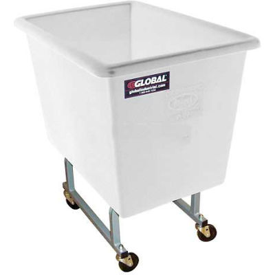 Dandux White Elevated Plastic Box Truck 51130P06N 6 Bushel Capacity