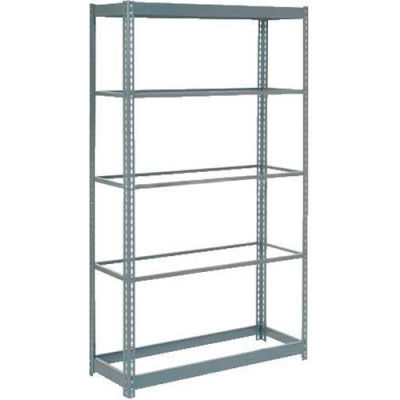 """Global Industrial™ Heavy Duty Shelving 36""""W x 18""""D x 84""""H With 5 Shelves - No Deck - Gray"""