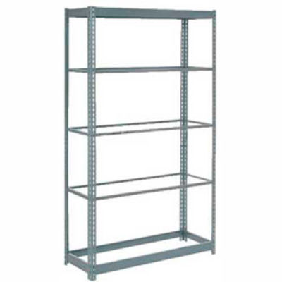 "Heavy Duty Shelving 48""W x 24""D x 96""H With 5 Shelves - No Deck - Gray"