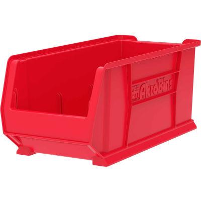 "Akro-Mils Super-Size AkroBin® 30287 - Stacking Bin 11""W x 23-7/8""D x 10""H Red - Pkg Qty 4"