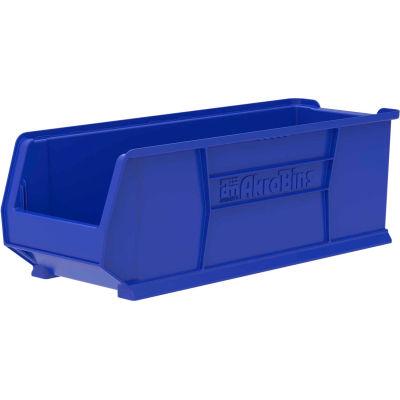 "Akro-Mils® Super-Size AkroBin® Plastic Stacking Bin, 11""W x 29-7/8""D x 10""H, Blue - Pkg Qty 4"