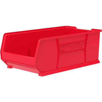 """Akro-Mils Super-Size AkroBin® 30293 - Stacking Bin 16-1/2""""W x 29-7/8""""D x 11""""H Red"""