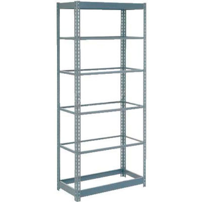 """Global Industrial™ Heavy Duty Shelving 48""""W x 18""""D x 84""""H With 6 Shelves - No Deck - Gray"""