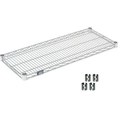 """Nexel® S1442Z Poly-Z-Brite® Wire Shelf 42""""W x 14""""D"""