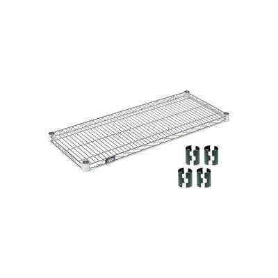 """Nexel® S1448Z Poly-Z-Brite® Wire Shelf 48""""W x 14""""D"""