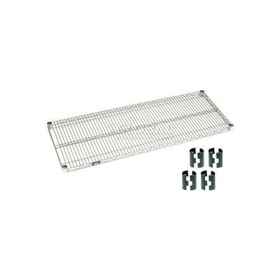 """Nexel® S2172Z Poly-Z-Brite® Wire Shelf 72""""W x 21""""D"""