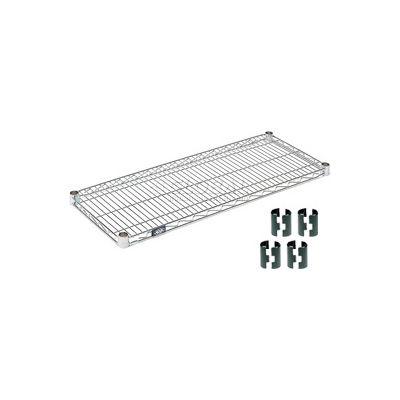 """Nexel® S1454Z Poly-Z-Brite® Wire Shelf 54""""W x 14""""D"""