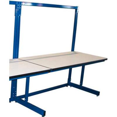 Pro-Line 72 x 30 B7230SAESD Basic Single Sided Add-On Workbench Unit - ESD Laminate Top