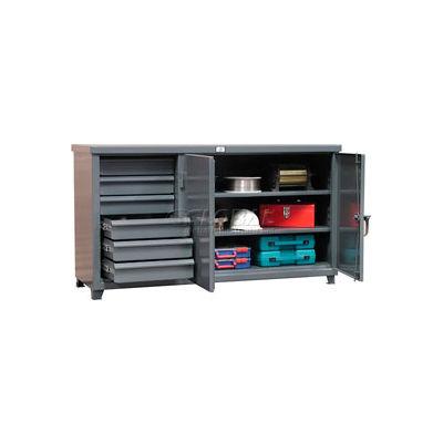 """Strong Hold Cabinet Workbench W/Hidden Drawer Storage 72"""" W X 36"""" D X 28"""" H"""