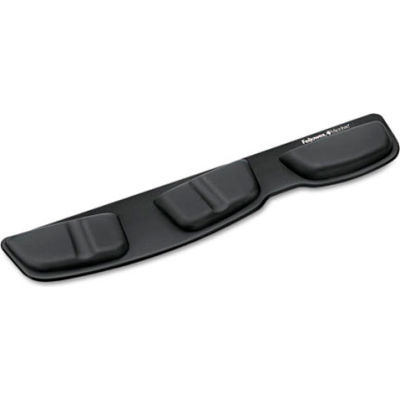 Fellowes® 9182501 Keyboard Palm Support with Microban® Protection, Black - Pkg Qty 4