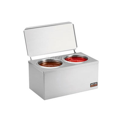 Server Stainless Steel Double Cone Dip Warmer