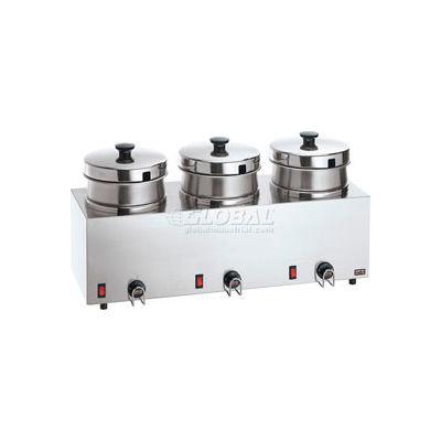 Server Triple Food Server w/ 4 QT (3.8 L) Insets, Water Bath Warmer