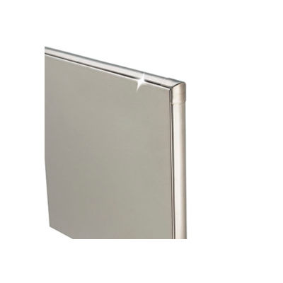 """Stainless Steel Bathroom Partition Panel - 54-3/4"""" W x 58"""" H"""
