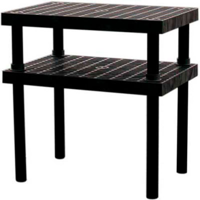 """Plastic Work Bench with Grid Top - 36""""W x 24""""D x 36""""H"""