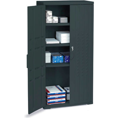 Plastic Storage Cabinet 66 x 18 x 33 Black